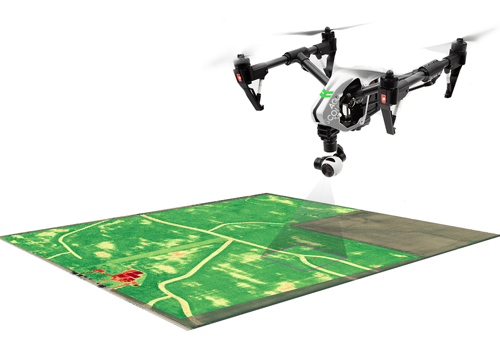 Real-time aerial drone mapping - Drone My Business on