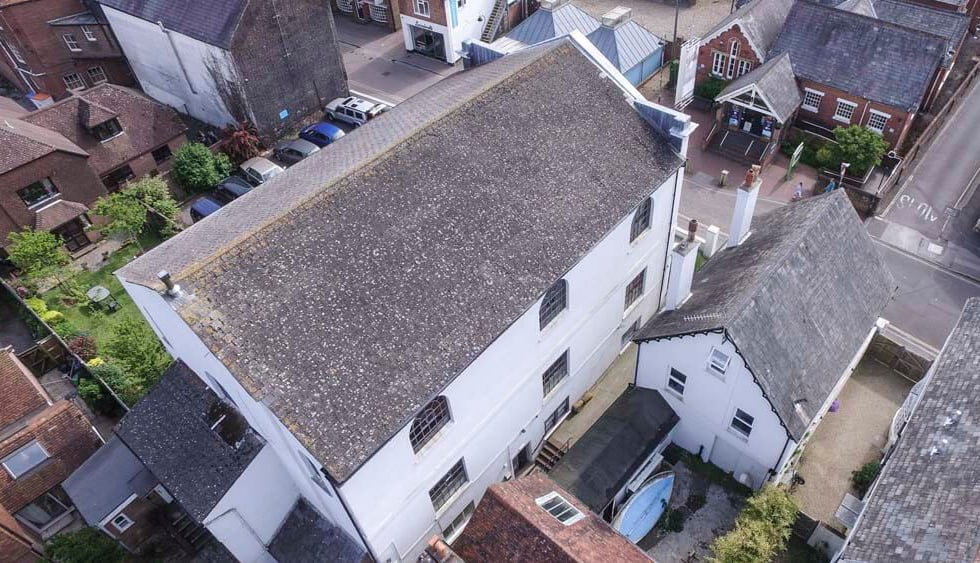 Drone Aerial Roof Inspection Survey For Lymington Baptist